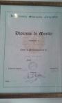 Diploma di Merito 1996 Accademia Chigiana